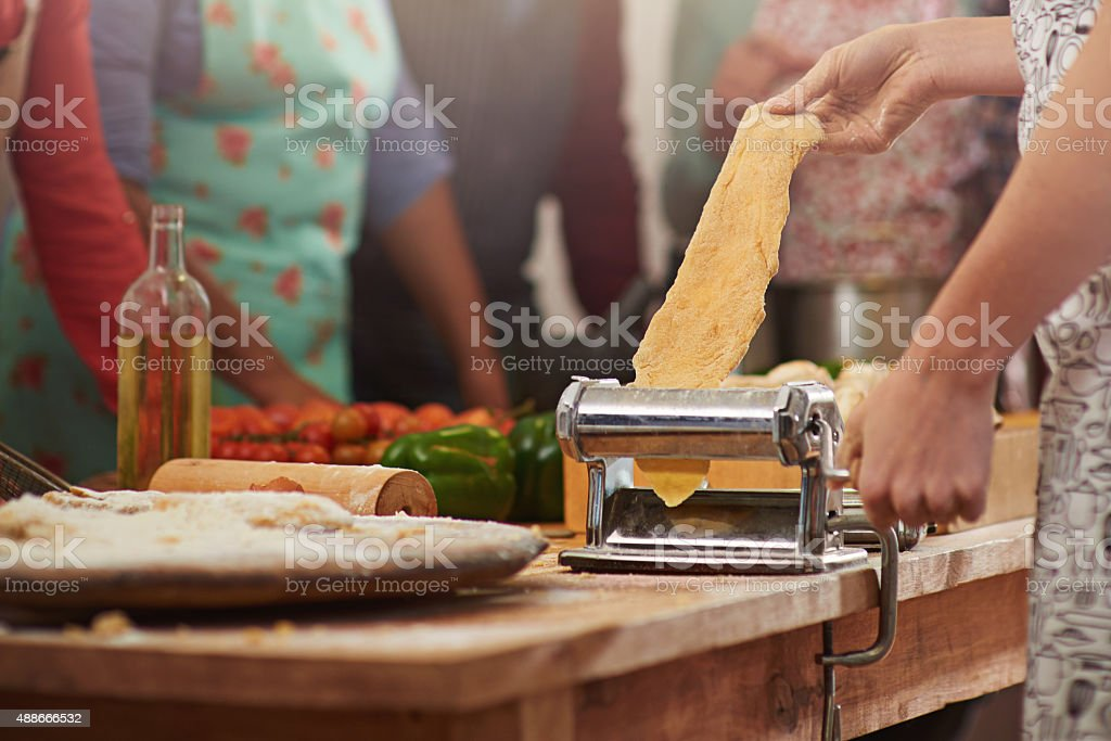 Fresh pasta is the best pasta stock photo