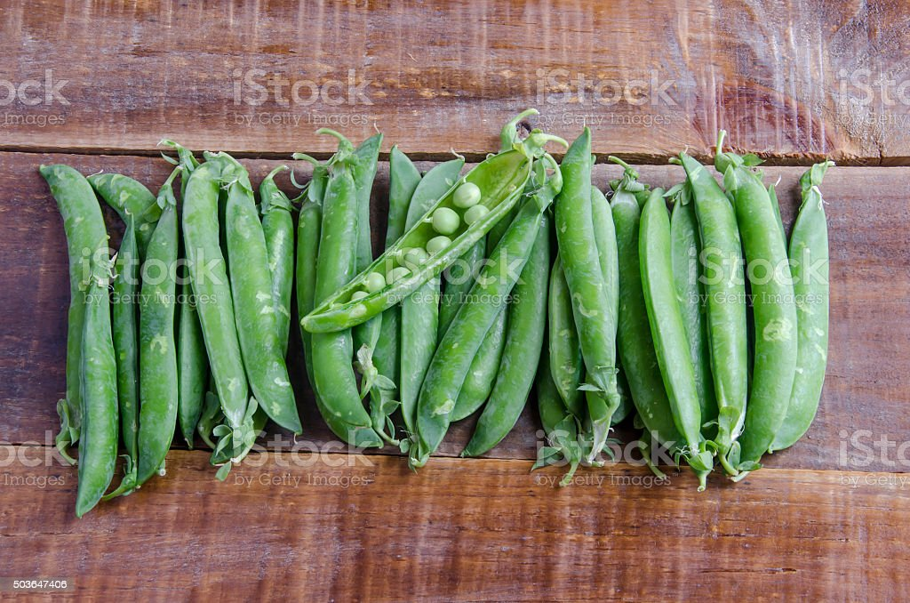 Fresh pea pods stock photo