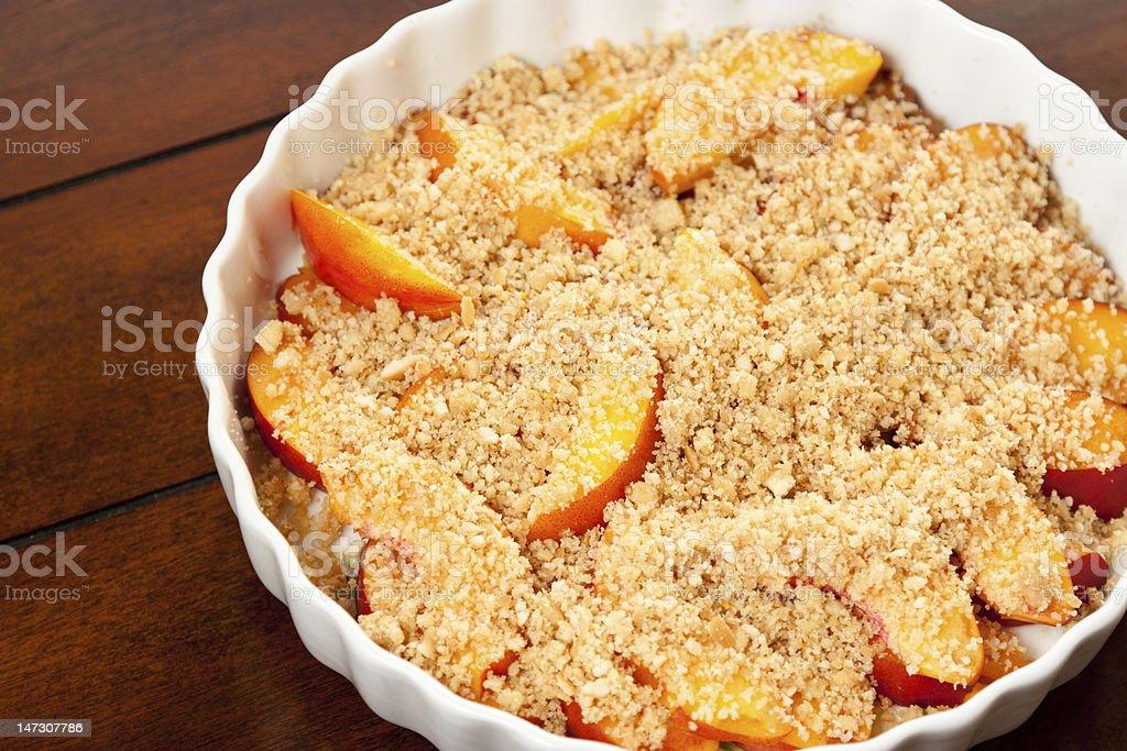 Fresh Peach Crisp stock photo