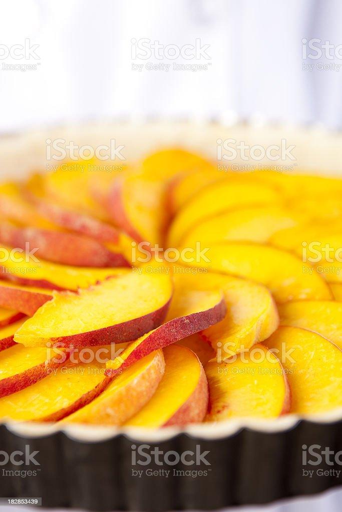 Fresh Peach Tart stock photo