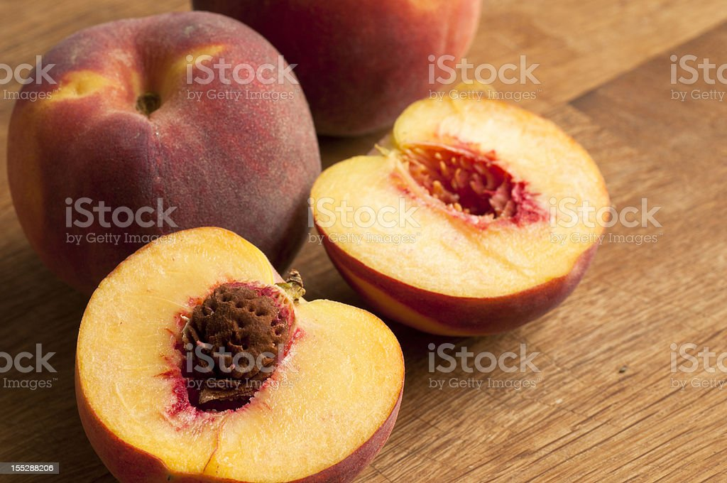 Fresh peaches royalty-free stock photo