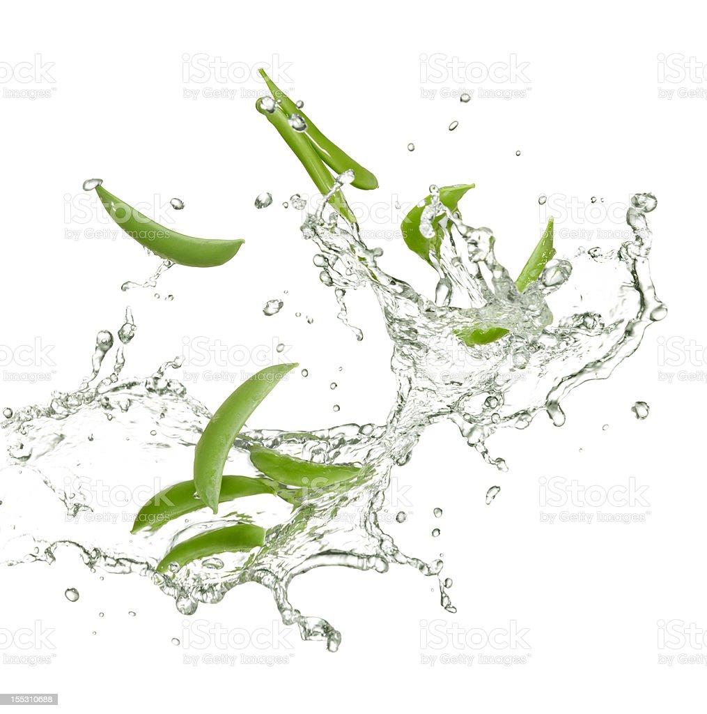 fresh peas royalty-free stock photo