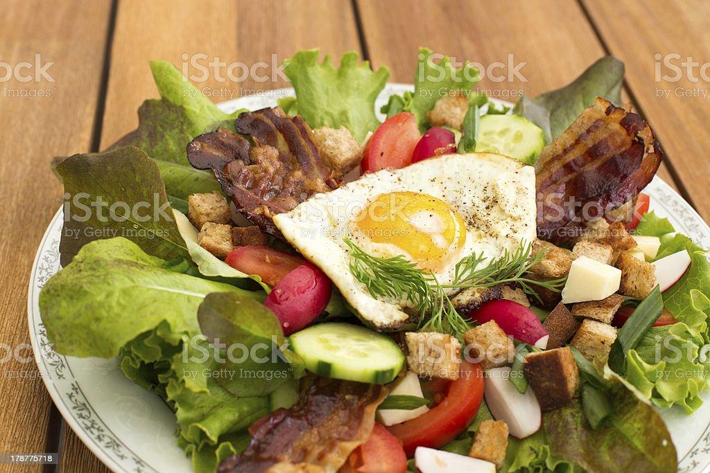 Fresh peasant salad royalty-free stock photo