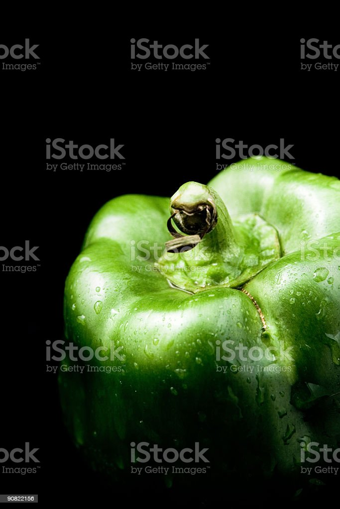 Fresh peppers on black royalty-free stock photo