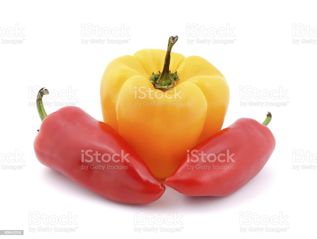 Fresh peppers vegetable stock photo
