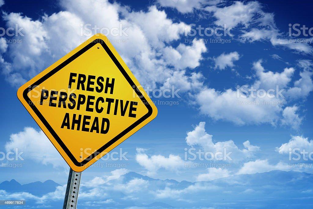 Fresh perspective ahead stock photo