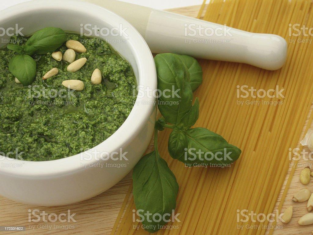 Fresh pesto stock photo