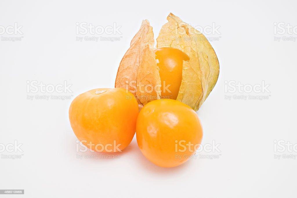 Fresh physalis fruit stock photo