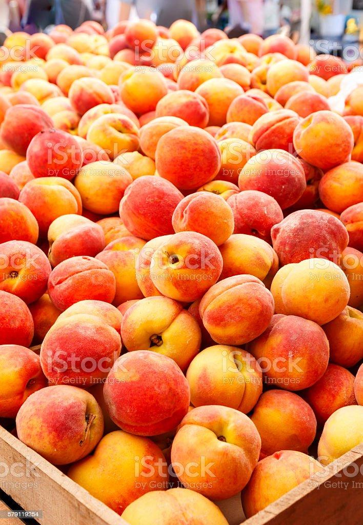Fresh Picked Peaches stock photo