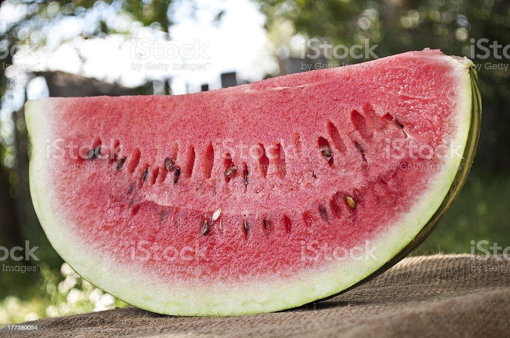 fresh piece of watermelon royalty-free stock photo