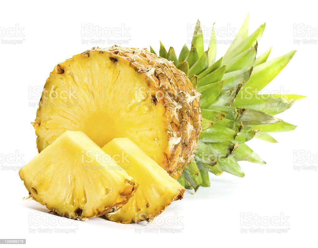 fresh pineapple fruits stock photo