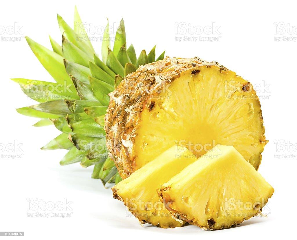 fresh pineapple fruits royalty-free stock photo
