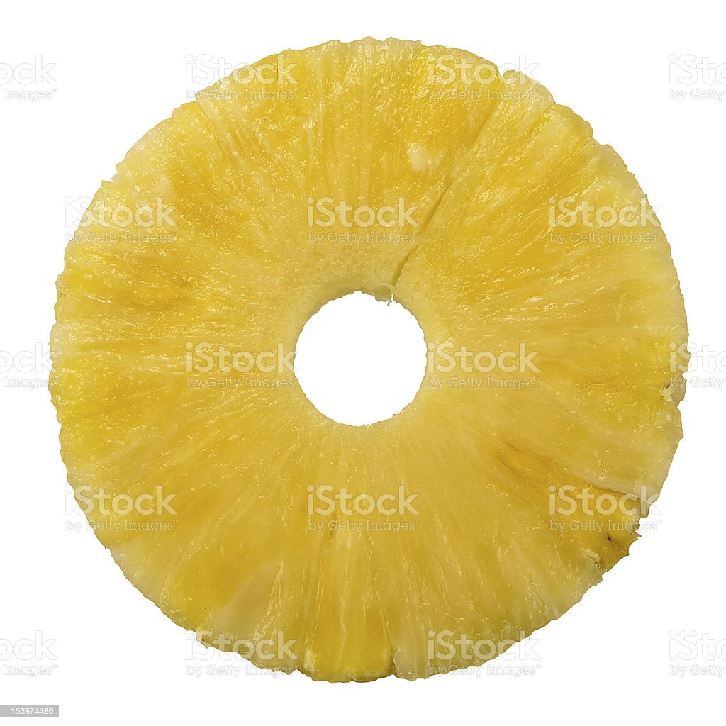Fresh pineapple ring - isolated stock photo