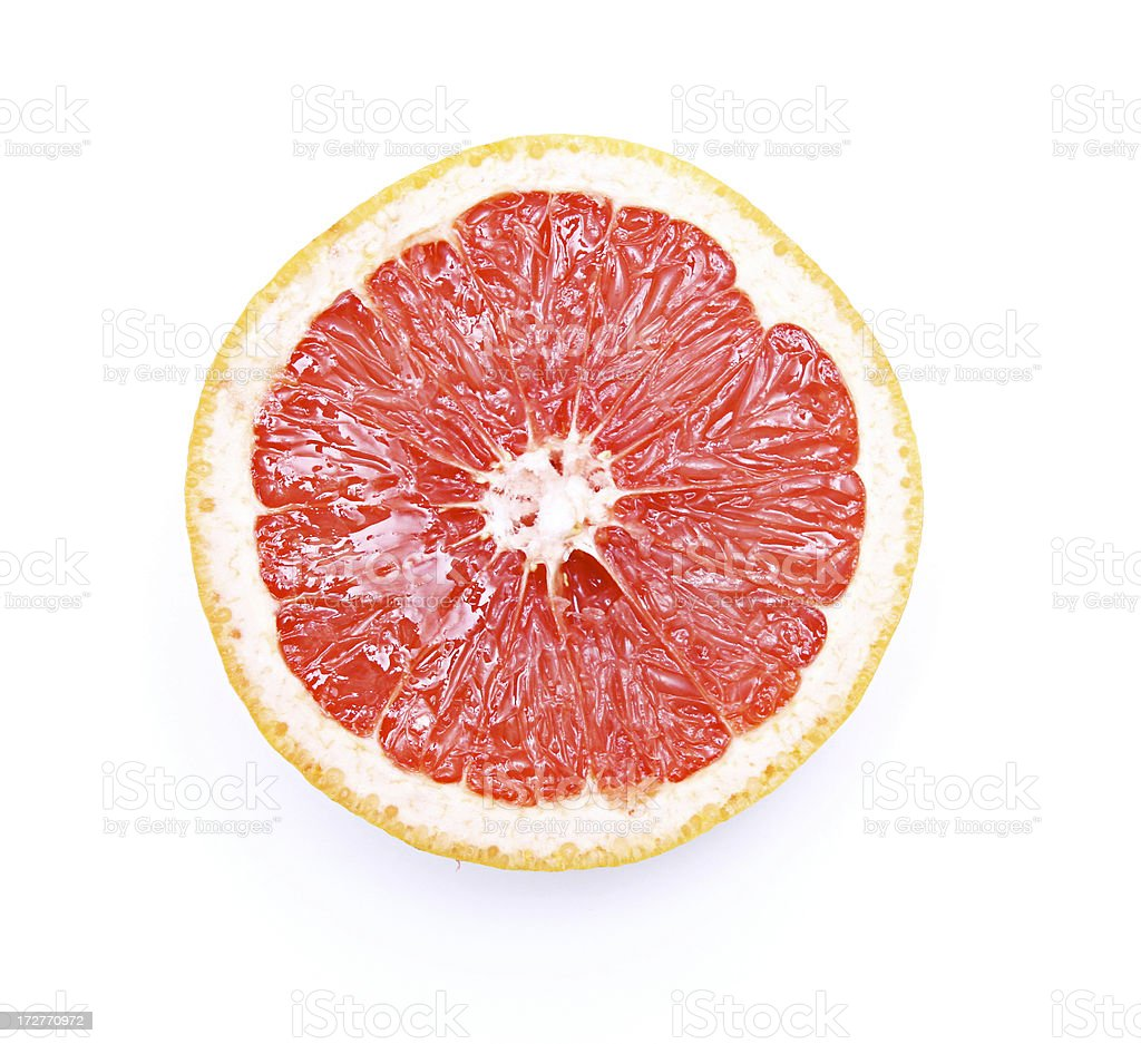 Fresh Pink Grapefruit stock photo