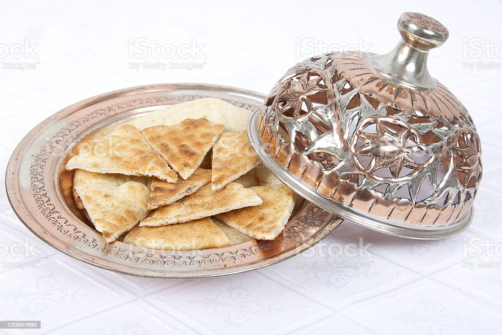 Fresh Pita Breads are served royalty-free stock photo