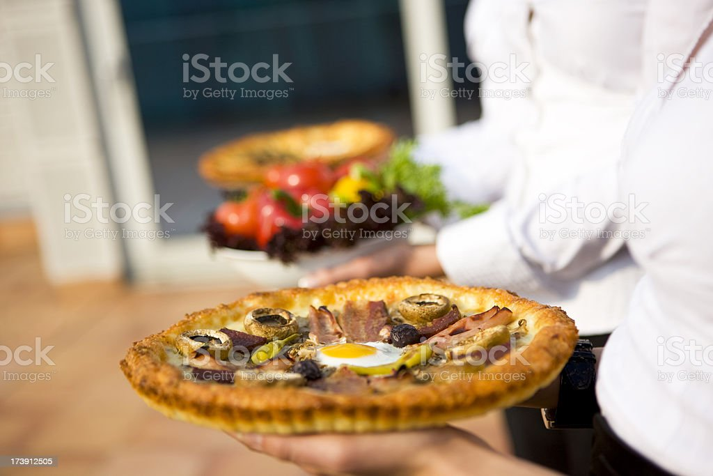 Fresh pizza royalty-free stock photo