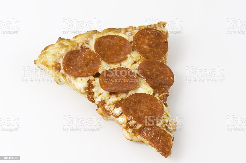 Fresh Pizza Slice stock photo