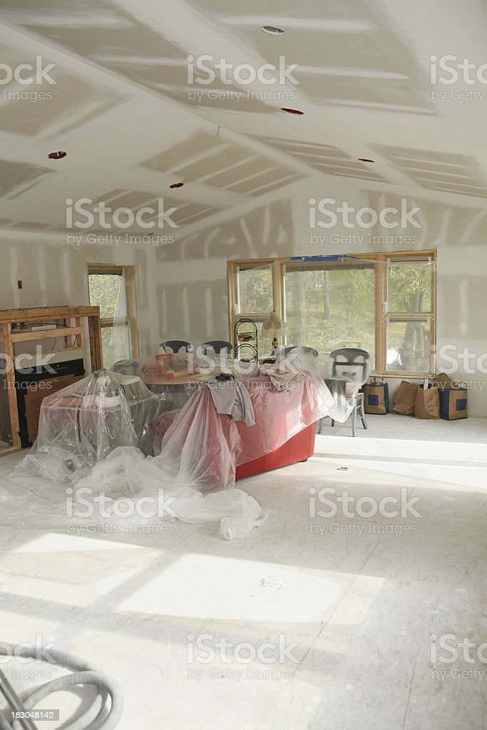Fresh Plasterboard royalty-free stock photo