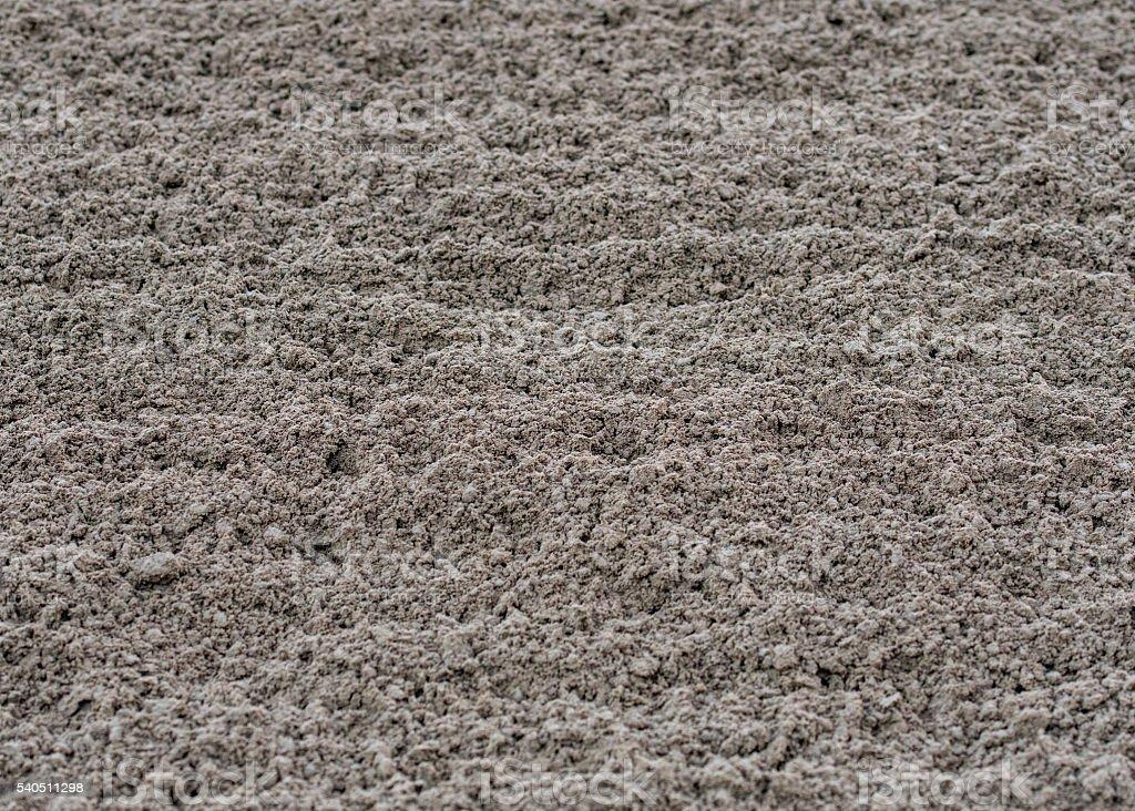 Fresh Plowed Dirt Track Close Up stock photo
