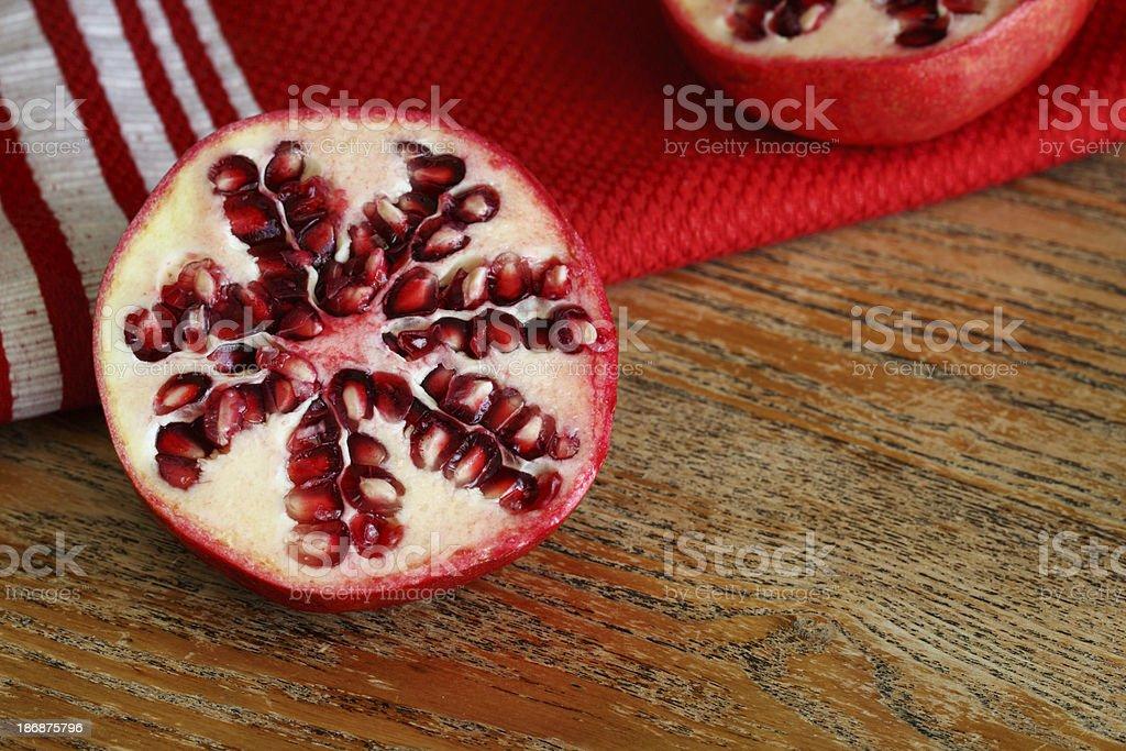 Fresh Pomegranate Half stock photo