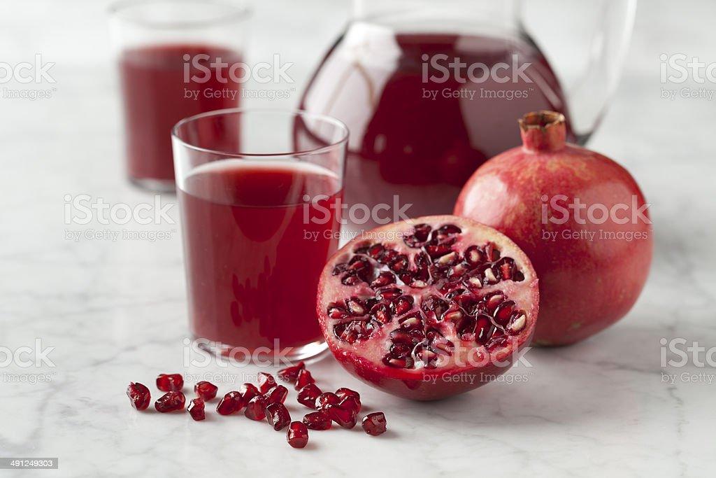 Fresh pomegranate juice stock photo