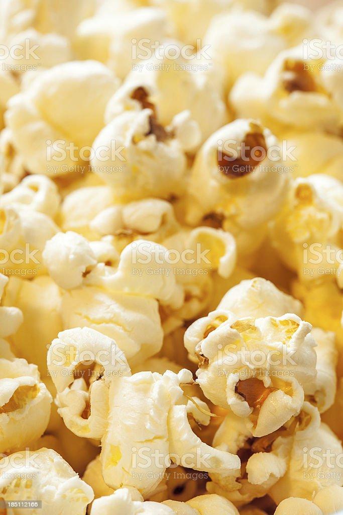 Fresh Popcorn Closeup stock photo