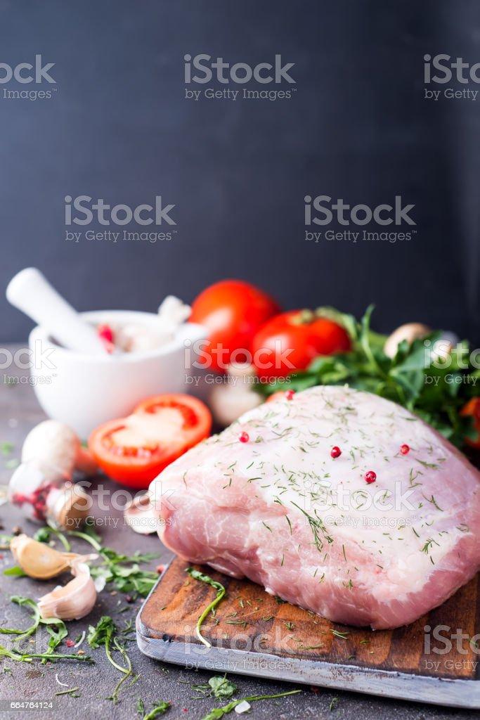 Fresh pork fillet stock photo