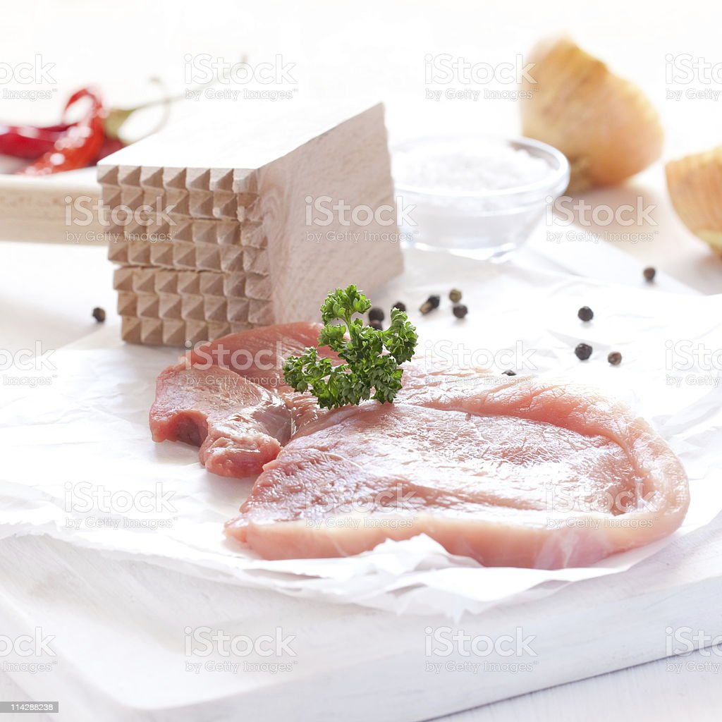 fresh pork meat stock photo