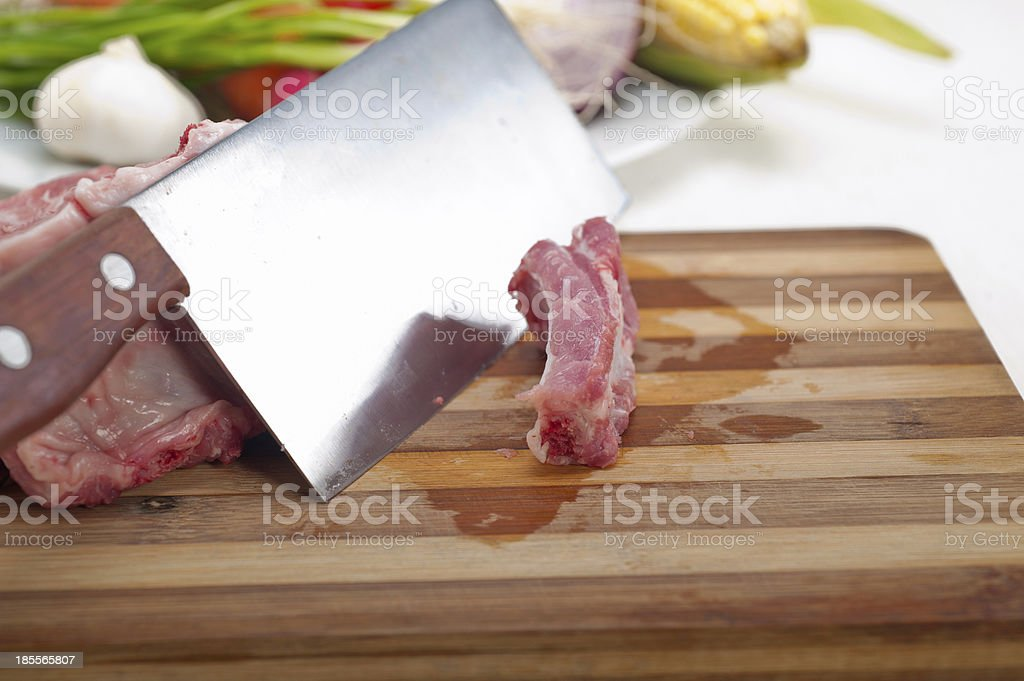 fresh pork ribs and vegetables royalty-free stock photo