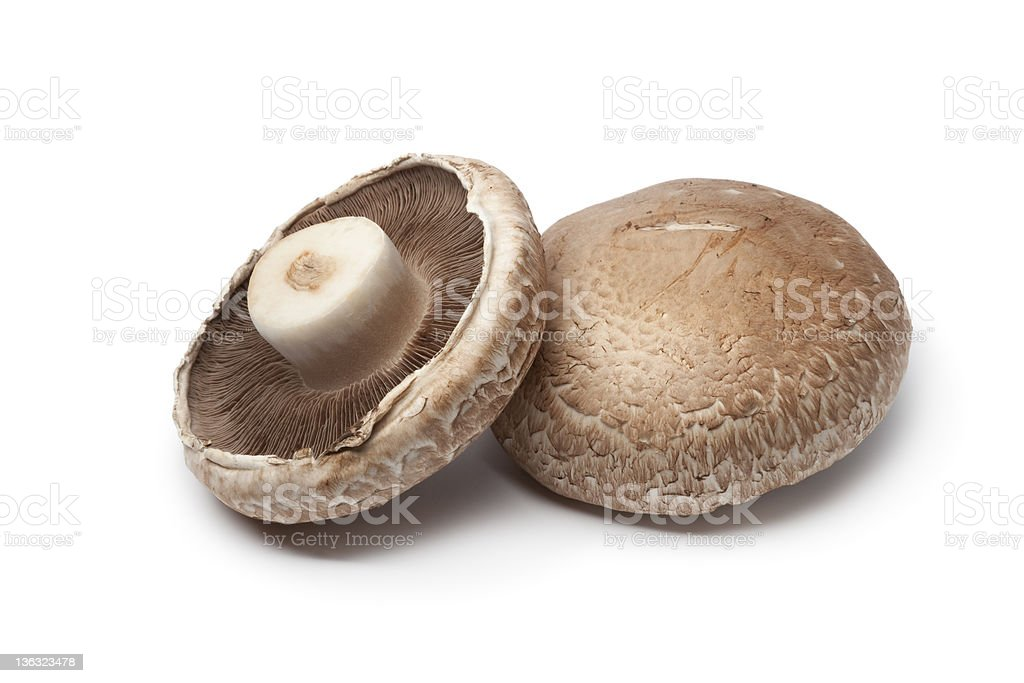 Fresh Portobello mushrooms royalty-free stock photo