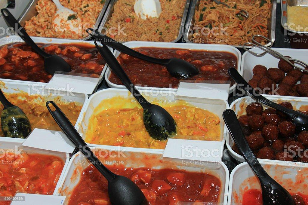 Fresh prepaired meals stock photo