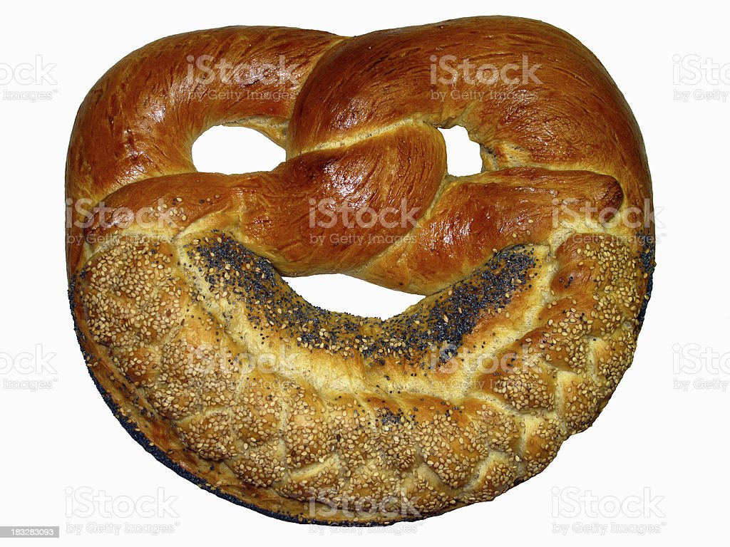 Fresh pretzel royalty-free stock photo