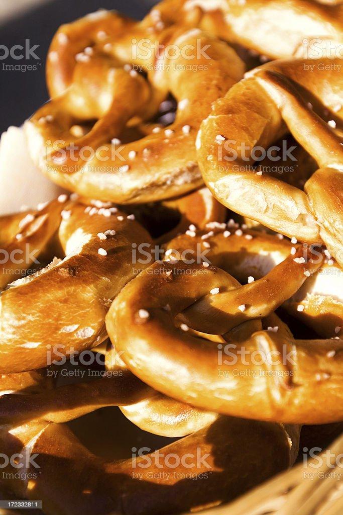 fresh pretzels royalty-free stock photo