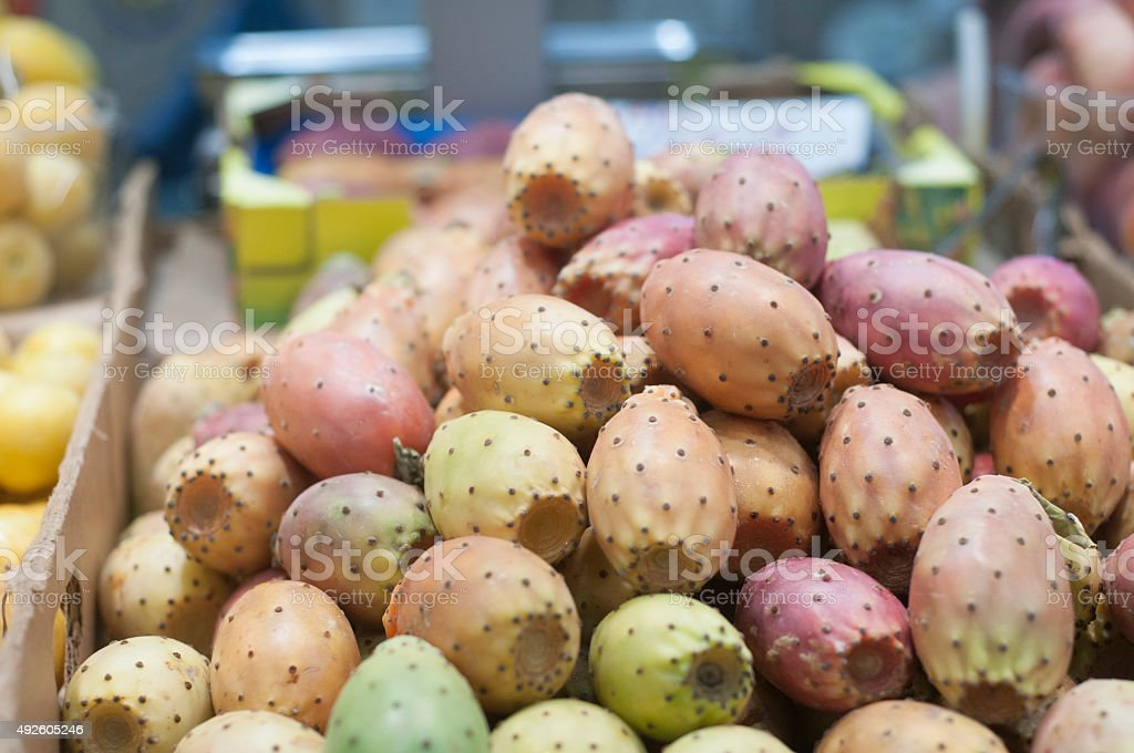 Fresh prickly pear cactus stock photo