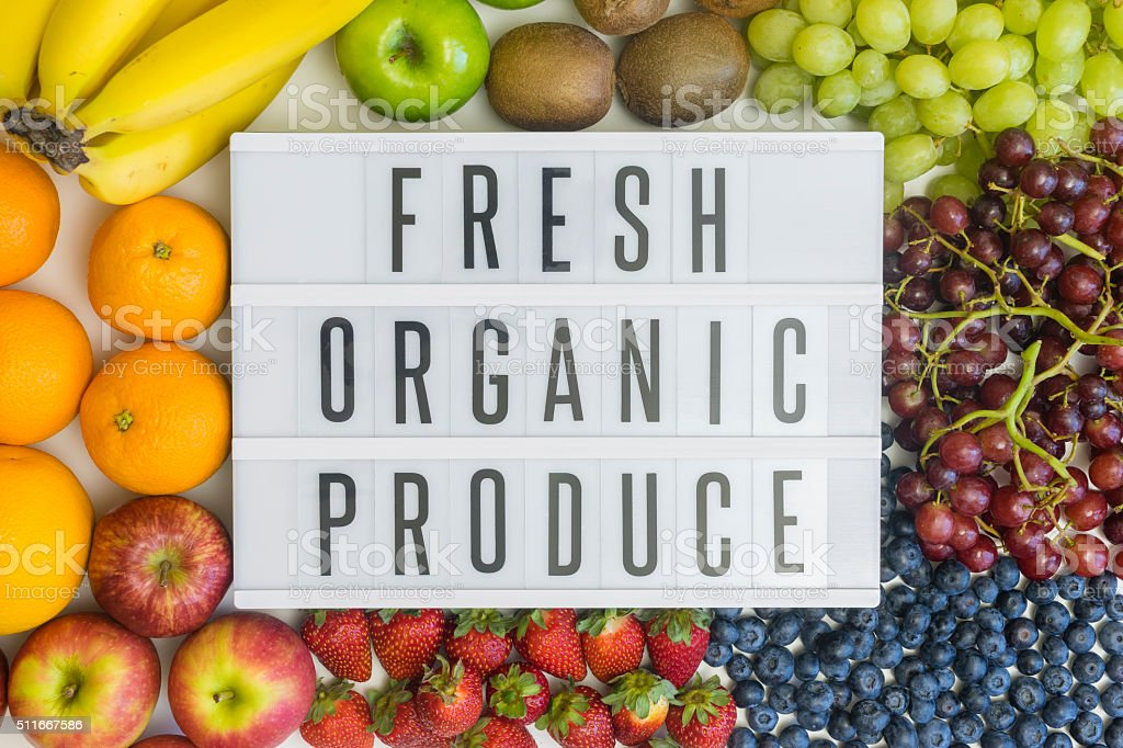 Fresh produce and its health benefits stock photo