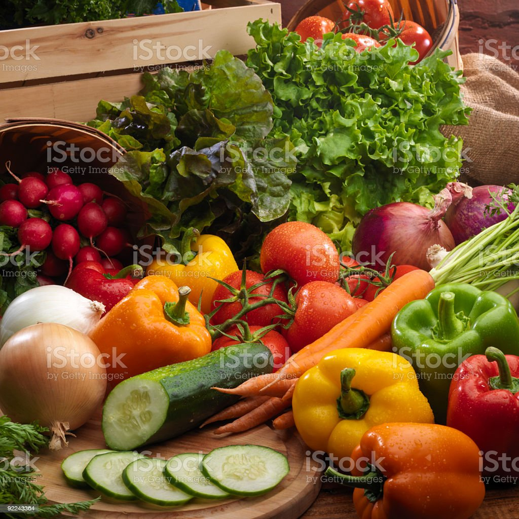 Fresh Produce Arrangement royalty-free stock photo