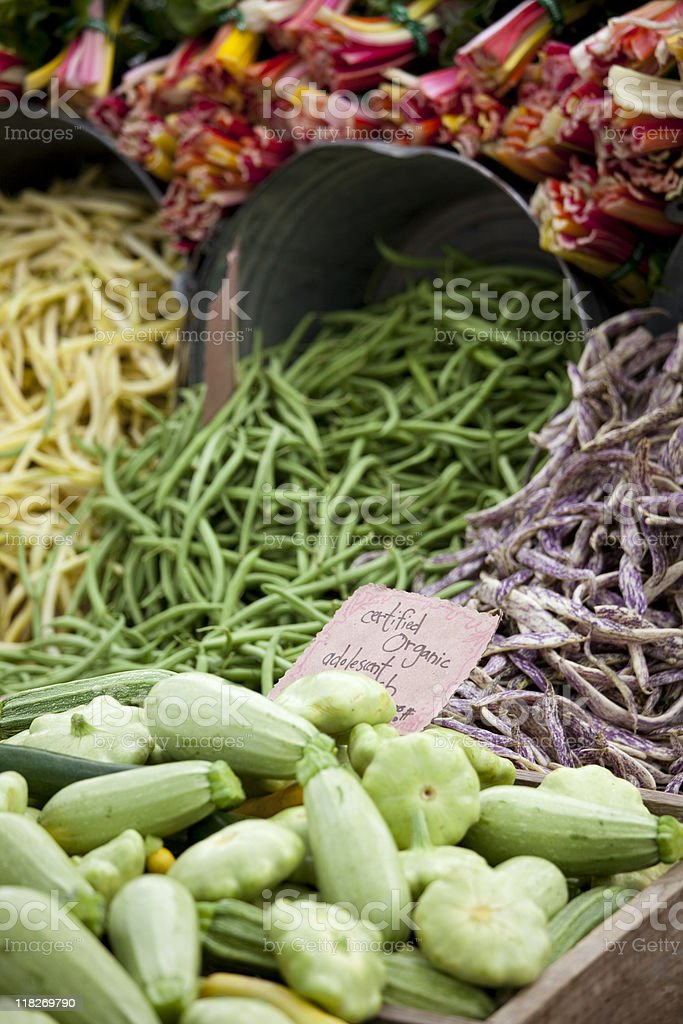 Fresh Produce at a Farmers Market, Seattle royalty-free stock photo
