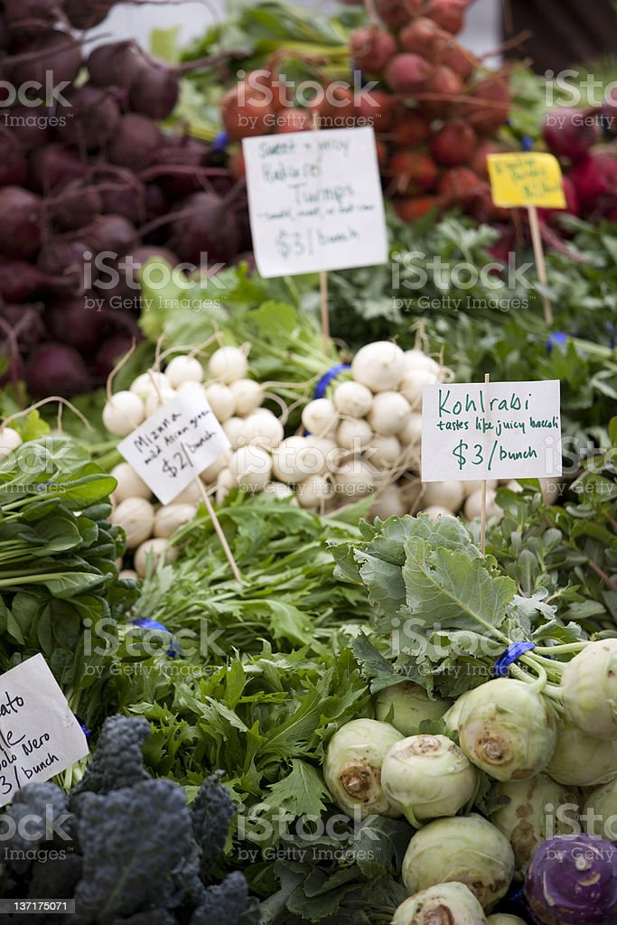 Fresh Produce at a Farmers Market, Seattle stock photo