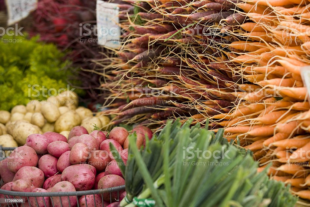 Fresh produce at the Farmers Market royalty-free stock photo