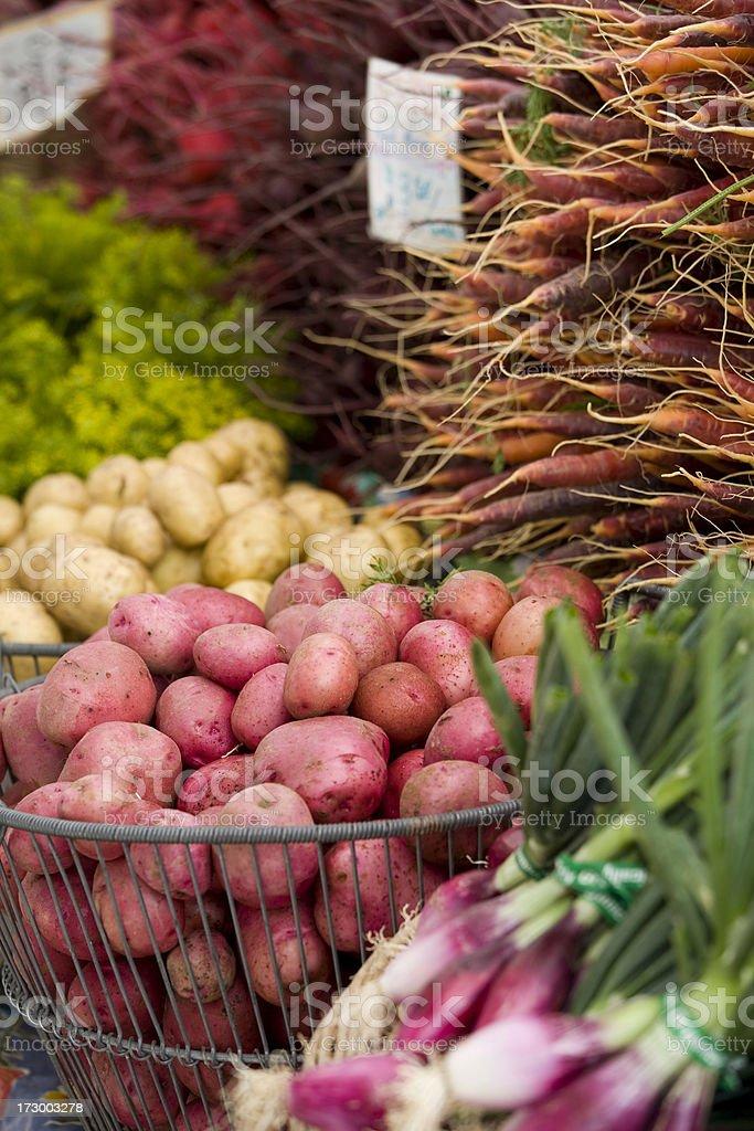 Fresh produce at the Farmers Market royalty-free stock photo