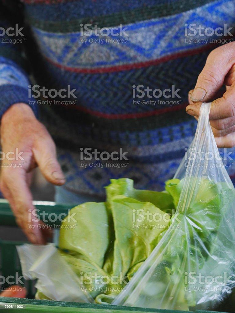 Fresh produce at the local farmer's  market. stock photo