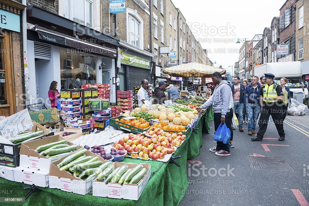 Fresh Produce For Sale in London's Brick Lane Market stock photo