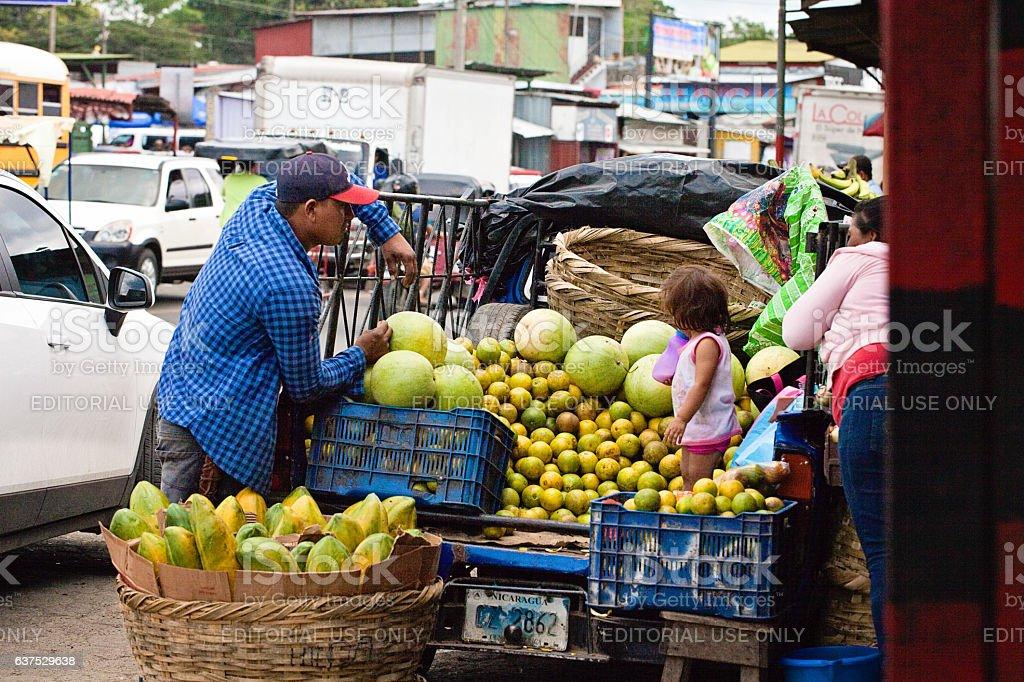 Fresh Produce Vending in Nicaragua stock photo