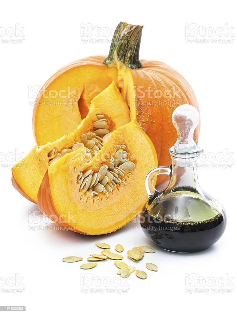 Fresh pumpkin oil stock photo