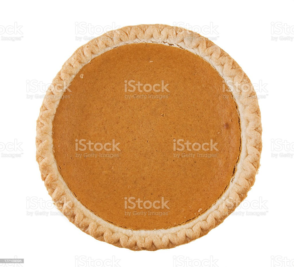 Fresh Pumpkin Pie stock photo