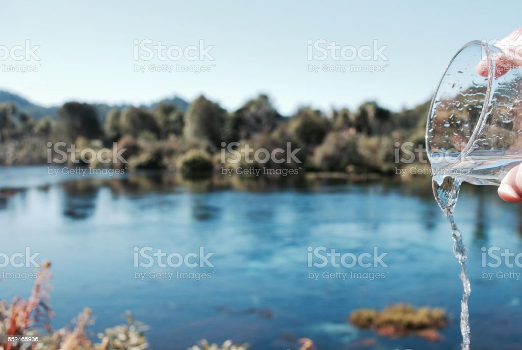 Fresh Pure Drinking Water Concept stock photo