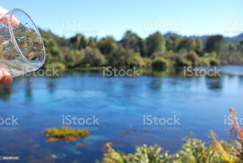 Fresh Pure Drinking Water stock photo