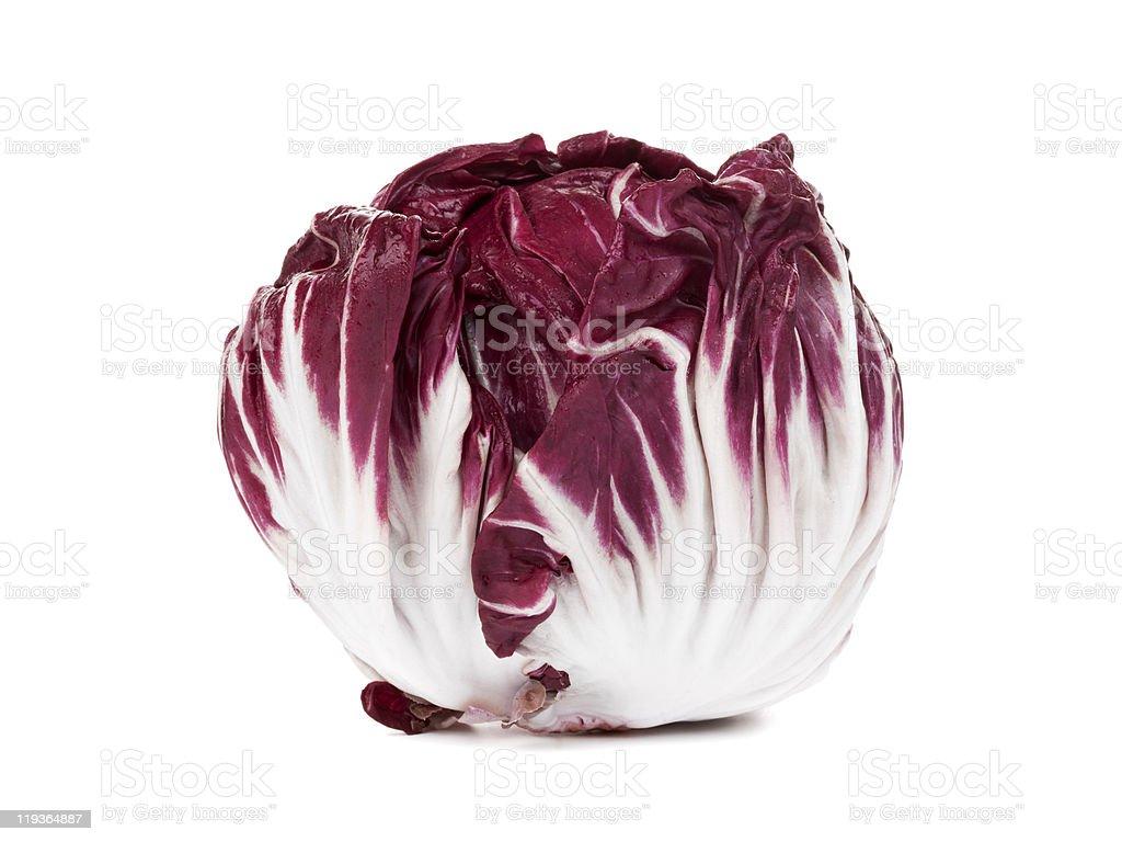 fresh radicchio isolated on white stock photo