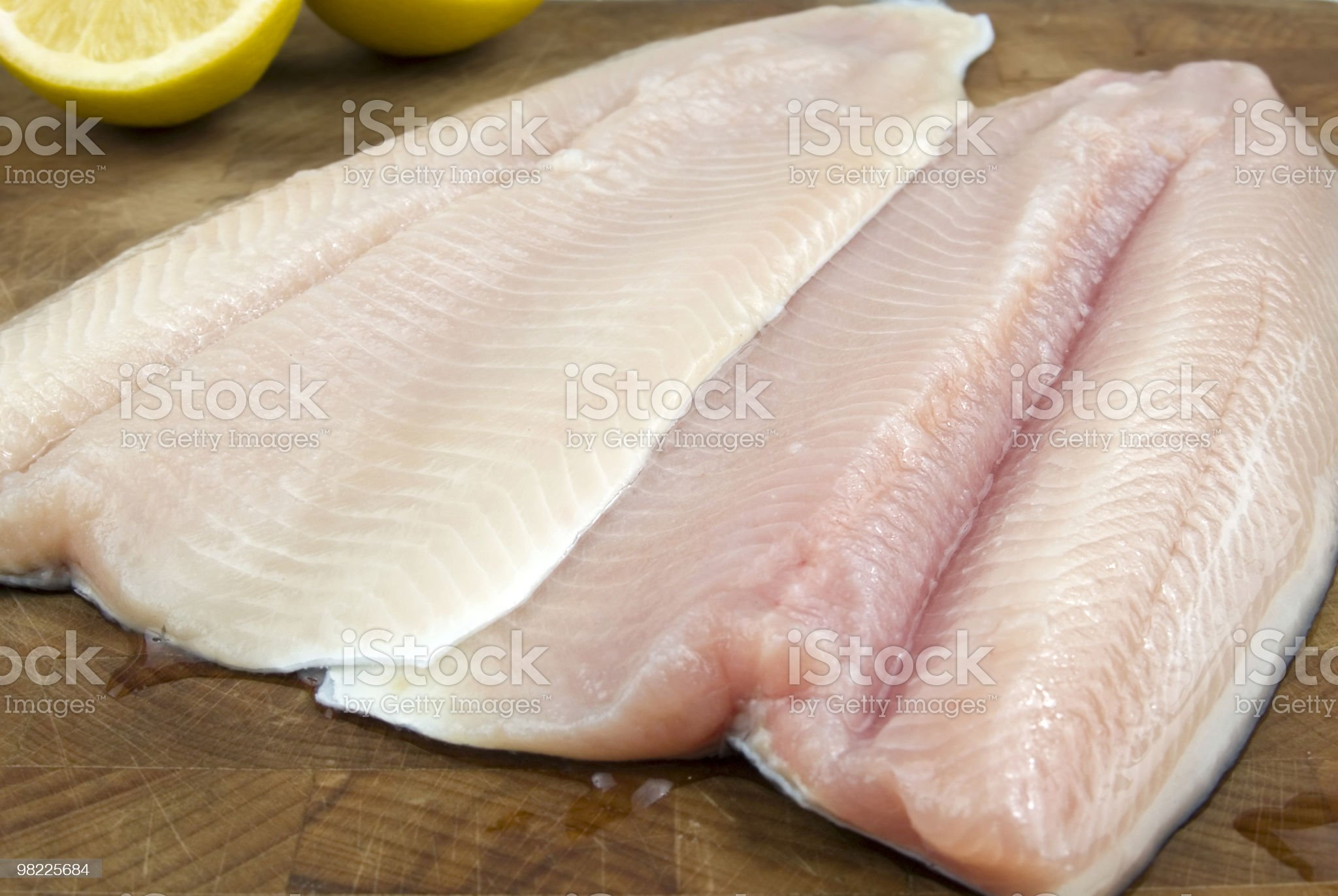 Fresh rainbow trout filets royalty-free stock photo