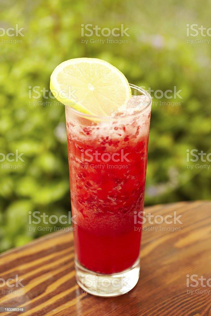 Fresh rasberry tequila cocktail stock photo